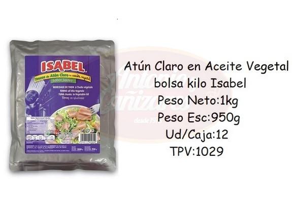 54b0212e1 Atun en aceite vegetal bolsa kilo Isabel - Antonio y Cañizares